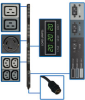 TAA Compliant 3-Phase Metered PDU, 14.4kW, 45 208V Outlets (36 C13, 6 C19, 3 L6-30R), 6-ft. Hubbell CS8365C 50A Plug -- PDU3MV6H50ATAA