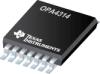 OPA4314 Quad, 3MHz, Low-Power, Low-Noise, RRI/O, 1.8V CMOS Operational Amplifier -- OPA4314AIPW -Image