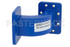 WR-137 Commercial Grade Waveguide E-Bend with CPR-137G Flange Operating from 5.85 GHz to 8.2 GHz -- PE-W137B003 - Image