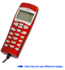 VoIP USB Handheld Phone (Red) -- VOIP120