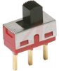 Switch, Slide, PC Terminal, SPST, ON-NONE-OFF, 0.4VA MAX@120VAC OR VDC MAX -- 70128277 - Image