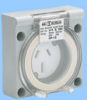 15A 250V 3 Wire Panel Mount Receptacle -- 88011110 - Image