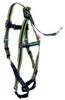 Full-Body Harness,Cap. 400lb,Grn/Blk/Org -- 19D184