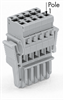 1-Conductor female plug; with lateral locking levers; only in combination with male connectors; codable; can be commoned with miniature adjacent jumpers; 8-pole -- 769-108/021-000