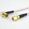 SMC Plug to RA SMB Plug Cable RG-316 Coax in 24 Inch and RoHS -- FMC1826315LF-24 -Image