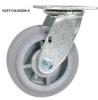High-Quality Thermosplastic Rubber (Dk) Casters -- HCST-F34-4X2DK-SWB -Image