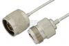 N Male to N Female Semi-Flexible Precision Cable 6 Inch Length Using PE-SR405FL Coax, LF Solder, RoHS -- PE39446-6 -Image