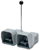 On-Off Foot Switch: double plastic pedal with gray metal guards -- APD1224-V0-M