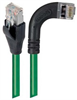 Shielded Category 6 Right Angle Patch Cable, Straight/Right Angle Right, Green, 10.0 ft -- TRD695SRA7GR-10 -Image