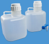 Polypropylene Square Carboy with Corner Stopcock -- 73082