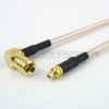 MMCX Plug to RA SMB Plug Cable RG-316 Coax in 12 Inch and RoHS -- FMC0926315LF-12 -Image