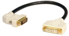 DVI Dual Link Digital Extension Adapter Cable with 45 degree Left Plug (DVI-D M/F) 1-ft. -- P562-001-45L