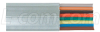 8 Conductor Flat Modular Cord (PVC), 500 ft Spool -- TDB8-500