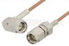 SMA Male to SMA Male Right Angle Cable 48 Inch Length Using RG178 Coax -- PE3865-48 -Image