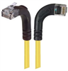 Category 5E Right Angle Patch Cable, RA Right Exit/Right Angle Up, Yellow 7.0 ft -- TRD815RA12Y-7 -Image