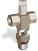 """(Formerly B1629-9-TP-SG), Cross Small Sight Feed Valve, Solid Gasket, 1/4"""" Female NPT Inlet, 1/4"""" Male NPT Outlet, Tamperproof -- B1628-234B2TW -- View Larger Image"""