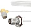 RA SMA Male to TNC Female Bulkhead Cable FM-SR086TB Coax in 18 Inch with LF Solder -- FMCA2138-18 -Image