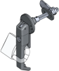 Lift and Turn Insulated Door Latch -- 1091 - Image
