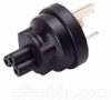 AS3112 Australia 3 prong plug to C5 3 prong receptacle -- YL-3514