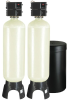 Meter Demand Duplex Alternating Water Softeners for Hardness Reduction -- PWS30-2