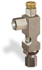 """(Formerly B1628-5X00), Angle Small Sight Feed Valve, 1/8"""" Female NPT Inlet, 1/4"""" OD Tube Outlet, Handwheel -- B1628-115B1HW -Image"""