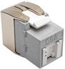 Toolless Cat6a Keystone Jack, PoE/PoE+ Compliant, Shuttered - Gray, TAA -- N238-001-GY-TFA - Image
