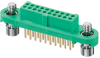 10+10 Pos. Female DIL Vertical Throughboard Conn. Screw-Lok (T+R) -- G125-FV12005F1R - Image