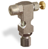 """(Formerly B1630-12X00), Inverted Angle Small Sight Feed Valve, 1/4"""" Male NPT Inlet, 1/4"""" OD Tube Outlet, Handwheel -- B1628-345B1HW -Image"""