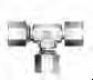 DIN Bite Type Tube Fitting - DART Adjustable Run Tee - Image
