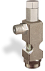 "(Formerly B1628-4X-TP), Angle Small Sight Feed Valve, 1/8"" Male NPT Inlet, 1/8"" Female NPT Outlet, Tamperproof -- B1628-121B1TW -- View Larger Image"