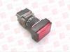 FUJI ELECTRIC AH165-TLR11E3 ( PUSHBUTTON FLAT LED 24VDC 1NO/1NC RED RECTANGLE ) -Image