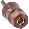 Binding Post; Standard Hex Head; 30 A; 1000 VAC; Brass per ASTM-B16; Nylon; Red -- 70183265