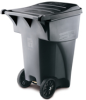 Rubbermaid BRUTE® 95-Gallon Rollout Container with Lid - 9W22 (Gray) -- RM-9W22GRA