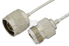 N Male to N Female Semi-Flexible Precision Cable 18 Inch Length Using PE-SR405FL Coax, LF Solder, RoHS -- PE39446-18 -- View Larger Image