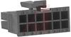 Receptacle; 12; Dual; 0.118; Female; Polyester; Black; UL 94V-0 -- 70190796