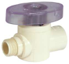 Straight Valve,1/4 Turn,1/2x3/8 In,CPVC -- 5UEE5