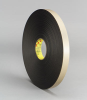 3M(TM) Double Coated Polyethylene Foam Tape 4492 Black, 1 in x 72 yd 1/32 in, 9 per case Bulk -- 021200-30420 - Image
