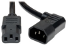Heavy-Duty Power Extension Cord, 15A, 14AWG (Right Angle IEC-320-C14 to IEC-320-C13) 10-ft. -- P005-010-14RA
