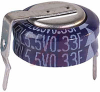 CAPACITOR, ALUMINUM ELECTRONIC (EDL) STACKED COIN, .33 F, 5.5 VOLT, MAX RES. 75 -- 70186146