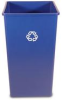 Rubbermaid Untouchable® 50-Gallon Square Recycling Container - 3959-73 (Blue) -- RM-3959-73BLU