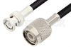 TNC Male to BNC Male Cable 24 Inch Length Using 75 Ohm RG59 Coax, RoHS -- PE3023LF-24 -Image