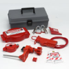 Valve Lockout Toolbox Kit With Brady Steel Padlocks & Tags -- 754476-99324