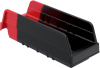Indicator® Storage Bins -- 36442BLKRED