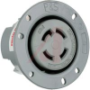Outlet, Turnlok Flanged Outlet, 30A, 125V / 250V, NEMA Config: L14-30R, Gray -- 70050630