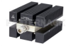 High Power 100 Watt RF Load Up to 8 GHz with N Female Conduction Cooled Body Black Anodized Aluminum Heatsink -- PE6222 -- View Larger Image
