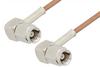 SMC Plug Right Angle to SMC Plug Right Angle Cable 36 Inch Length Using RG178 Coax -- PE3765-36 -Image