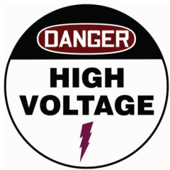 High voltage safety sign from New Pig Corp.