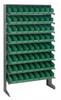 Bins & Systems - 4'' Shelf Bins (QSB Series) - Sloped Shelving Units - Single Sided Pick Racks - QPRS-101 - Image