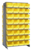 """Bins & Systems - Store-More 6"""" Shelf Bins (QSB Series) - Sloped Shelving Systems - Double Sided Pick Racks - QPRD-207 - Image"""