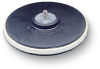 3M 09449 Medium Black Disc Pad - 6 in DIA - 1/4 in Thick - 5/16 - 24 External Thread Attachment -- 048011-09449 -- View Larger Image